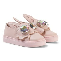 Minna Parikka Pale Pink Bunny Ear Mini Gemstone Sneakers All Powder