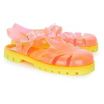 Project Jelly Orange Sherbert Jelly Shoes Orange