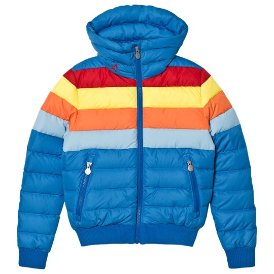 Perfect Moment Blue Rainbow Queenie Jacket Cobalt Rainbow