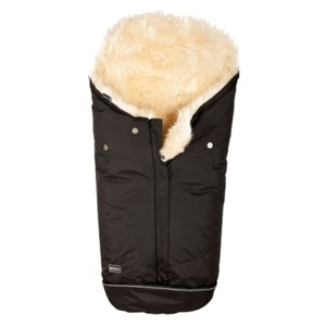 Image of BOZZ Footmuff with Long-haired Lambskin Black/Champagne One Size (989420)