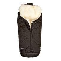 BOZZ Footmuff with Long-haired Lambskin Black/White Black