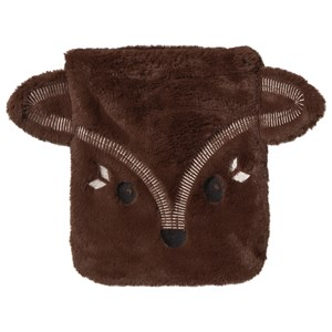 Image of Poivre Blanc Brown Faux Fur Fox Face Bag (2814963047)