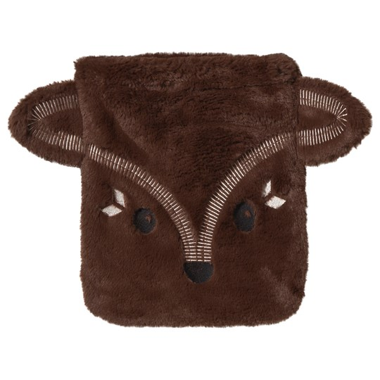 Poivre Blanc Brown Faux Fur Fox Face Bag BROWN 1834