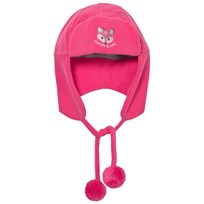 Poivre Blanc Pink Fox Embroidered Infants Hat POPPY PINK 2143