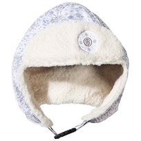 Poivre Blanc Cloud Silver Faux Fur Lined Infants Hat CLOUD SILVER 2120