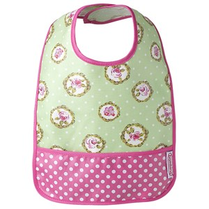Bilde av Bambino Easy Wipe Bib Flower/polka One Size