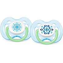 Philips Avent Napp, Modern Freeflow, 0-6M, 2-pack, Turkos Multi