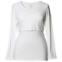 Boob Amningstopp, Classic Top Long Sleeve, NOOS, White White