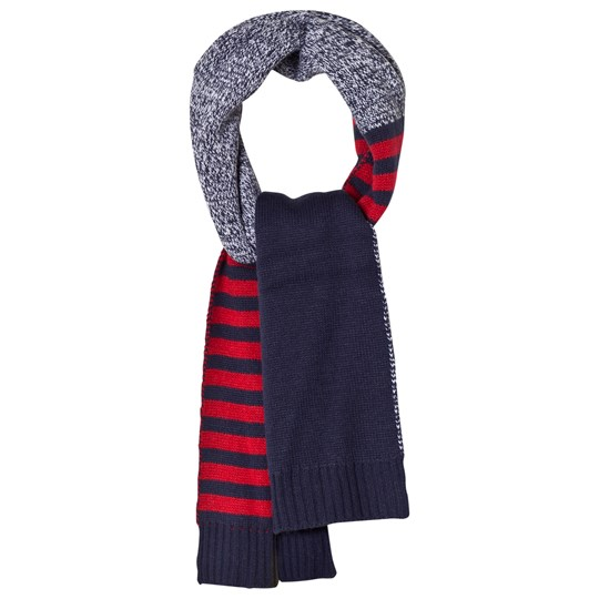 Lands' End Blue Striped Knit Scarf 4A3