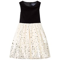 Lands End Gold and Silver Woven Tulle Party Dress 6Q5
