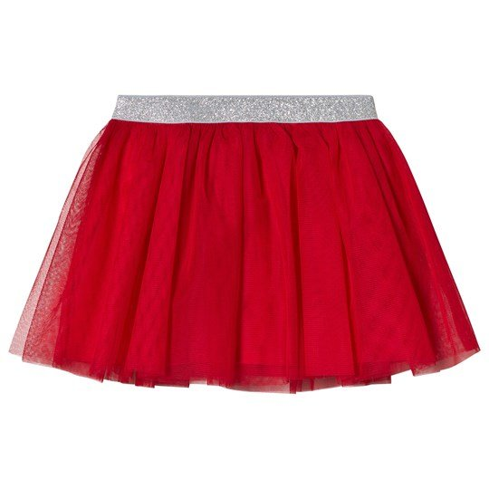Lands' End Rich Red Soft Tulle Skirt ZTU