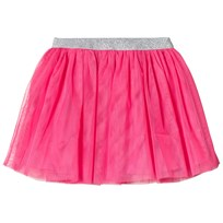 Lands End Pink Bright Fuchsia Soft Tulle Skirt BFU