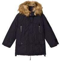 Diadora Night Blue Queen Bess Hooded Lungo Nylon Parka Jacket Night Blue 060