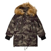 Diadora Camouflage Grizzly Lungo Nylon Parka Hooded Jacket Camouflage 590