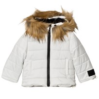 Diadora White Gannet Peak Infant Snow Jacket Snow Off White 002