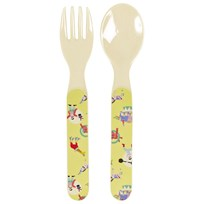 Rice Kids Melamine Spoon and Fork Circus circus print