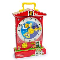Fisher Price VINTAGE TEACHING CLOCK Red