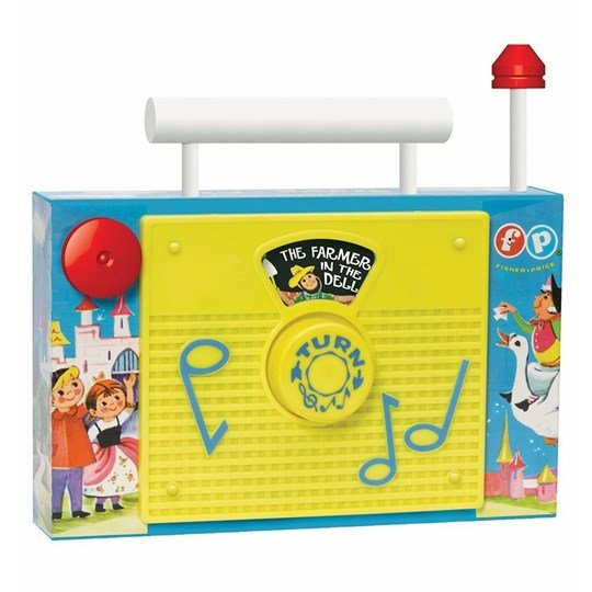 Fisher Price Retro TV Radio Musical Toy Multi