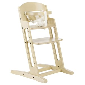 Image of Baby Dan White Wooden Chair with Handle and Strap (3150382011)