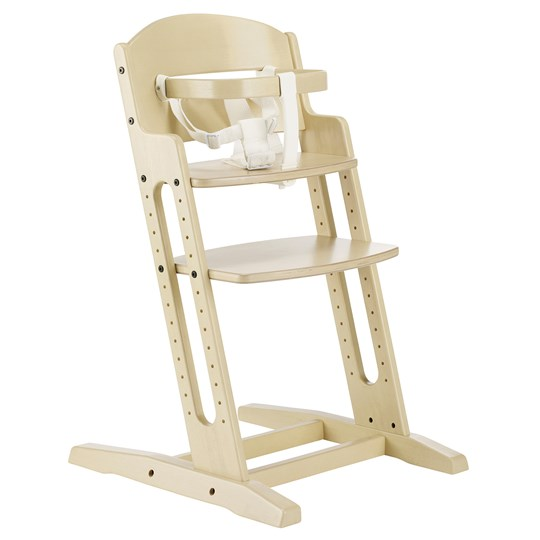 Baby Dan White Wooden Chair with Handle and Strap Beige