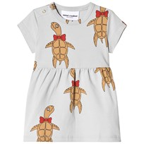 Mini Rodini Turtle Dress Grey Musta