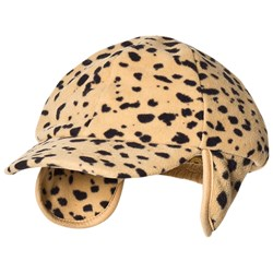 Mini Rodini Fleece Spot Cap Beige