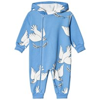 Mini Rodini Peace Onesie Blå Blue