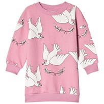Mini Rodini Peace Sweat Dress Pink Pink