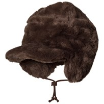Mini Rodini Faux Fur Cap Brown BROWN