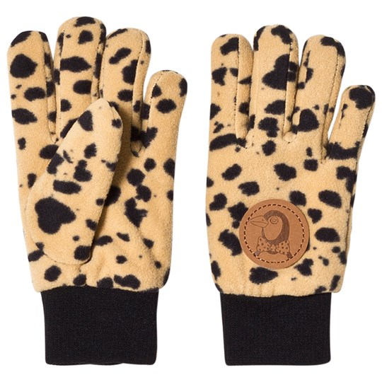 Mini Rodini Fleece Spot Glove Beige Beige