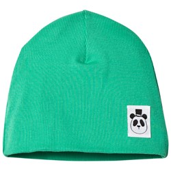 Mini Rodini Solid Rib Beanie Green