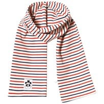 Mini Rodini Stripe Rib Scarf Off White White