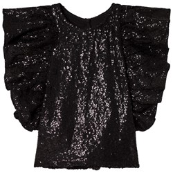How To Kiss A Frog Bling Top Black sequins