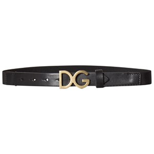 Image of Dolce & Gabbana Black and Gold D&G Elasticated and Leather Belt L 54cm (6-10 years) (2818735367)