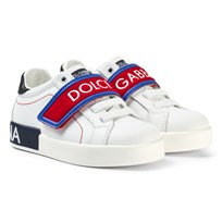 Dolce & Gabbana White Branded Velcro Trainers 8T576