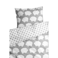 Färg & Form Sheep Crib Set Grey Black