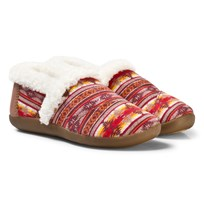 Toms Slippers, Brown Twill Sunset Stripe BROWN