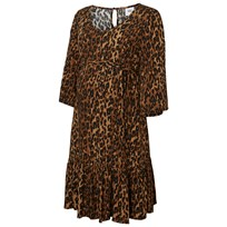 Mamalicious MLLeopard 3/4 Woven Above Knee Dress Leopard BROWN