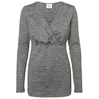Mamalicious MLFami Anette LS Jersey Top NF Grey Sort