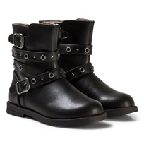 Mayoral Black Leather Biker Boots 86