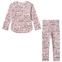 Soft Gallery Elliot Pajamas Coral Owl Coral, AOP Owl