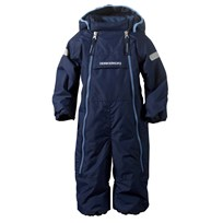 Didriksons Borga Baby Coverall  Navy Marinblå