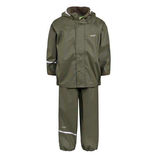 Celavi Basic Rain Set Army Green Army