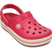 Crocs Tofflor, Kids Crocband, Raspberry/White Pink