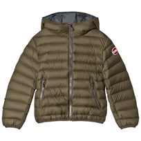 colmar Khaki with Grey  Lining Empire Down Hooded Bomber Jacket 262 Oil and Titanium