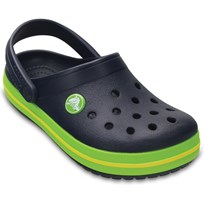Crocs Tofflor, Kids Crocband, Navy/Volt Green Green