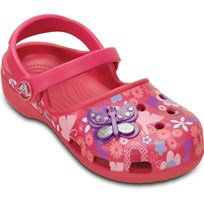 Crocs Tofflor, Karin Butterfly Clog, Raspberry Red