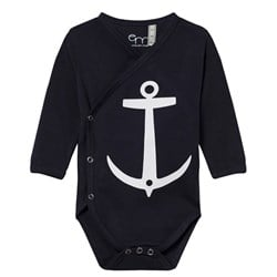 Emma och Malena Wrap Baby Body Anchor Navy