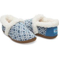 Toms Blue Fairisle House Slippers Blue Fairisle