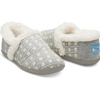 Toms Grey Jersey Skulls House Slipper Grey Jersey Skulls